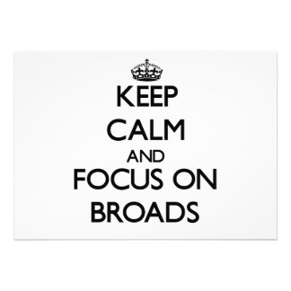 Guarde la calma y el foco en Broads