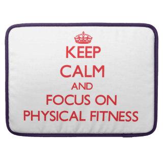 Guarde la calma y el foco en buen salud funda para macbook pro