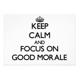 Guarde la calma y el foco en buena moral anuncios