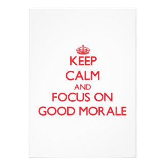 Guarde la calma y el foco en buena moral