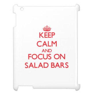Guarde la calma y el foco en bufetes de ensaladas