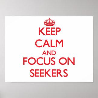 Guarde la calma y el foco en buscadores impresiones
