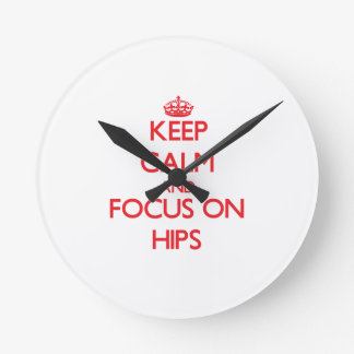 Guarde la calma y el foco en caderas reloj
