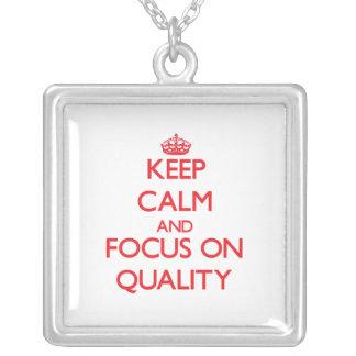 Guarde la calma y el foco en calidad grímpola