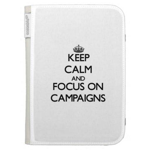 Guarde la calma y el foco en campañas