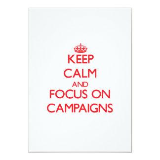 Guarde la calma y el foco en campañas comunicados personalizados