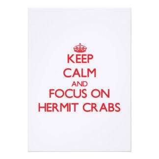 Guarde la calma y el foco en cangrejos de ermitaño comunicado