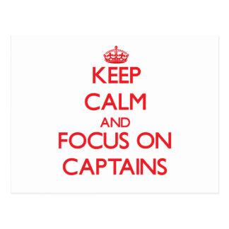 Guarde la calma y el foco en capitanes