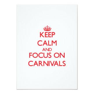 Guarde la calma y el foco en carnavales comunicados