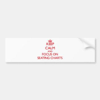 Guarde la calma y el foco en cartas del asiento pegatina para coche