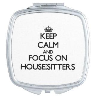 Guarde la calma y el foco en Casa-Canguros Espejos De Maquillaje