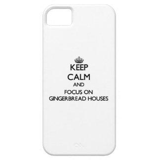 Guarde la calma y el foco en casas de pan de iPhone 5 Case-Mate cárcasa