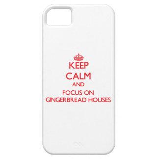 Guarde la calma y el foco en casas de pan de iPhone 5 Case-Mate fundas