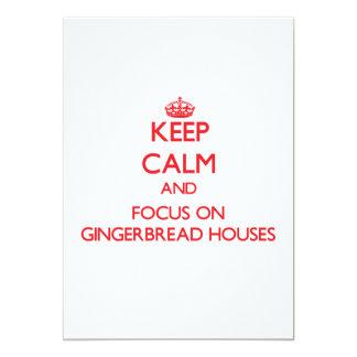 Guarde la calma y el foco en casas de pan de anuncio
