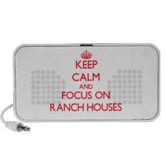 Guarde la calma y el foco en casas de rancho