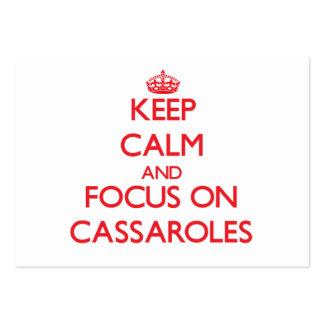 Guarde la calma y el foco en Cassaroles Tarjetas De Negocios