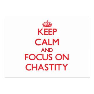 Guarde la calma y el foco en castidad
