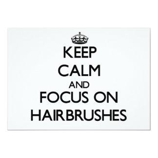 Guarde la calma y el foco en cepillos para el pelo comunicado personal