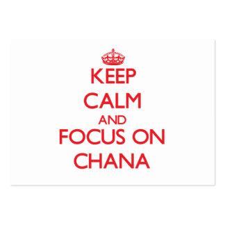 Guarde la calma y el foco en Chana Tarjetas De Visita Grandes