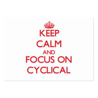 Guarde la calma y el foco en cíclico tarjeta de negocio