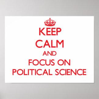 Guarde la calma y el foco en ciencia política póster