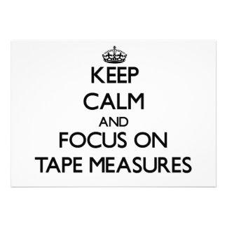 Guarde la calma y el foco en cintas métricas