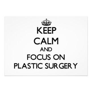 Guarde la calma y el foco en cirugía plástica invitación
