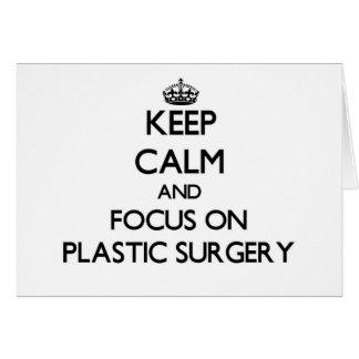 Guarde la calma y el foco en cirugía plástica felicitaciones
