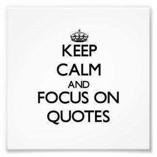 Guarde la calma y el foco en citas fotos