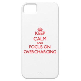 guarde la calma Y EL FOCO EN cobrar excesivamente iPhone 5 Funda