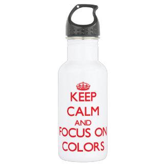 Guarde la calma y el foco en colores