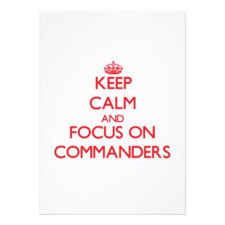 Guarde la calma y el foco en comandantes