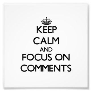 Guarde la calma y el foco en comentarios impresiones fotograficas