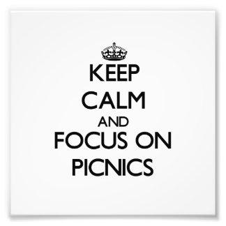 Guarde la calma y el foco en comidas campestres