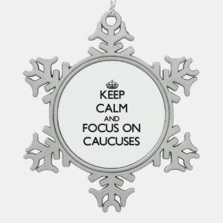 Guarde la calma y el foco en comités adornos