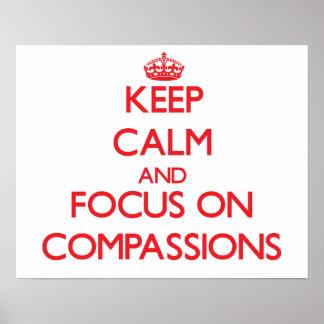 Guarde la calma y el foco en compasiones impresiones