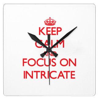 Guarde la calma y el foco en complejo