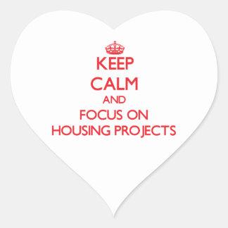 Guarde la calma y el foco en complejos de vivienda