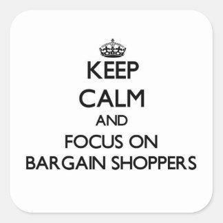 Guarde la calma y el foco en compradores del negoc