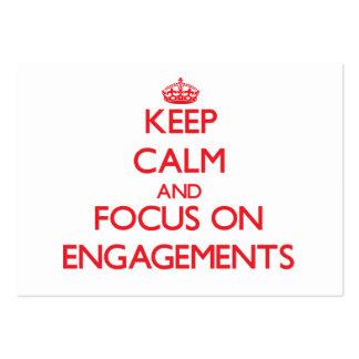 Guarde la calma y el foco en COMPROMISOS Tarjetas De Visita Grandes