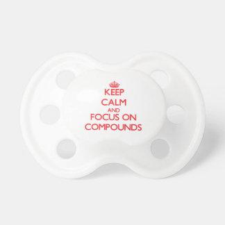 Guarde la calma y el foco en compuestos chupetes para bebés
