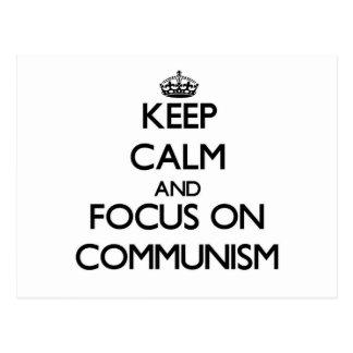Guarde la calma y el foco en comunismo postal