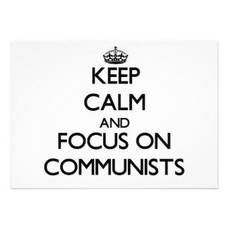 Guarde la calma y el foco en comunistas