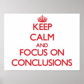 Guarde la calma y el foco en conclusiones impresiones