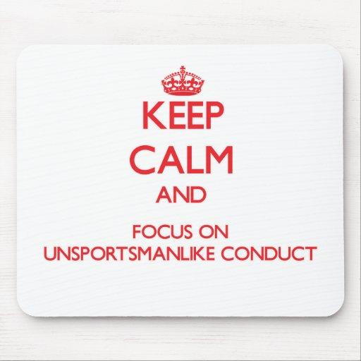 Guarde la calma y el foco en conducta tapete de ratones