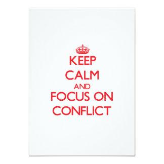 """Guarde la calma y el foco en conflicto invitación 5"""" x 7"""""""