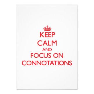 Guarde la calma y el foco en connotaciones