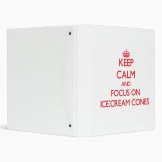 Guarde la calma y el foco en conos de helado