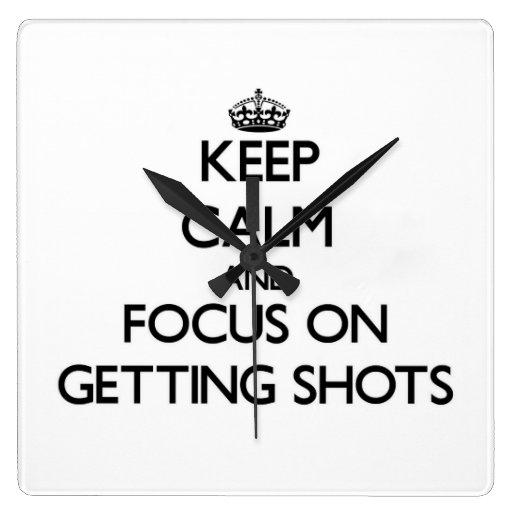 Guarde la calma y el foco en conseguir tiros reloj de pared