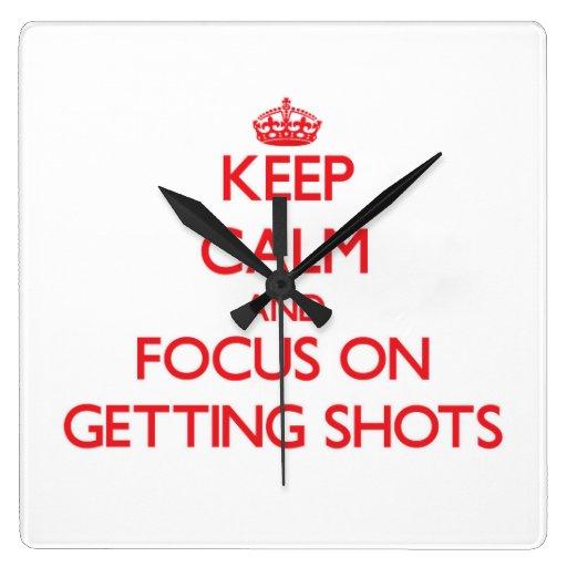 Guarde la calma y el foco en conseguir tiros relojes